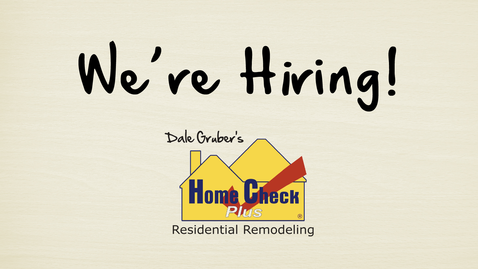 Now Hiring Carpenters Amp Foremans Home Check Plus