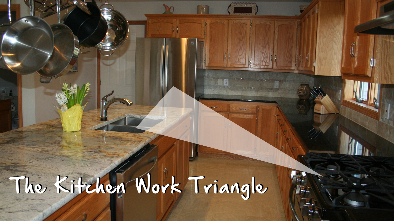 What is the kitchen work triangle home check plus for Kitchen triangle
